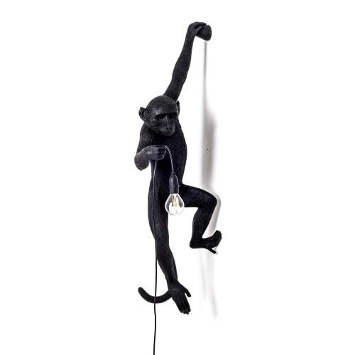 Monkey Lamp Utomhus Hängande Vänster Svart