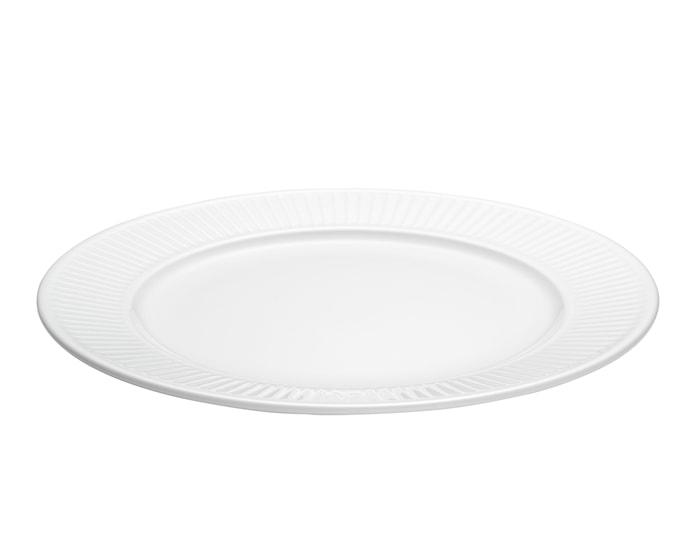 Plissé tallerken flat hvit, Ø 26 cm