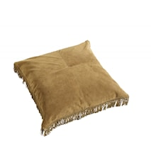 HIPPIE leather cushion cover, l.brun S