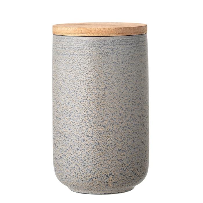 Kendra Jar w/Lid, Grey, Stoneware