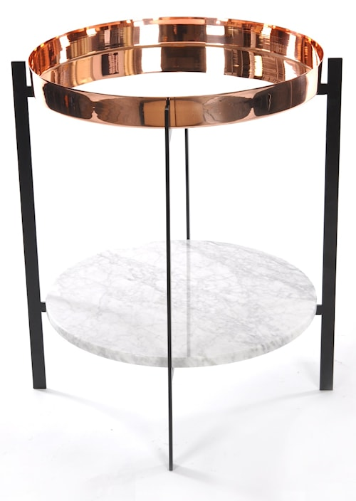 Deck sidobord - Copper/cararra/black