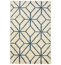 Berber Ayur Matta Ull Vit/Blue Melange 180x270 cm
