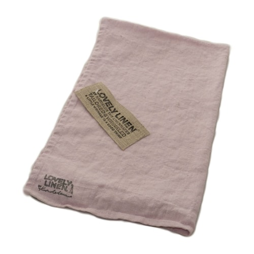 Lovely linen towel handduk – Dusty pink