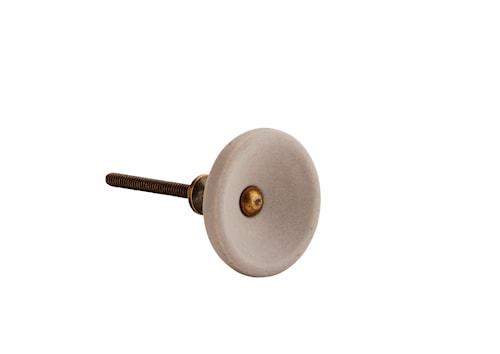 Dörrhandtag Ø 4 cm - Grå/mässing
