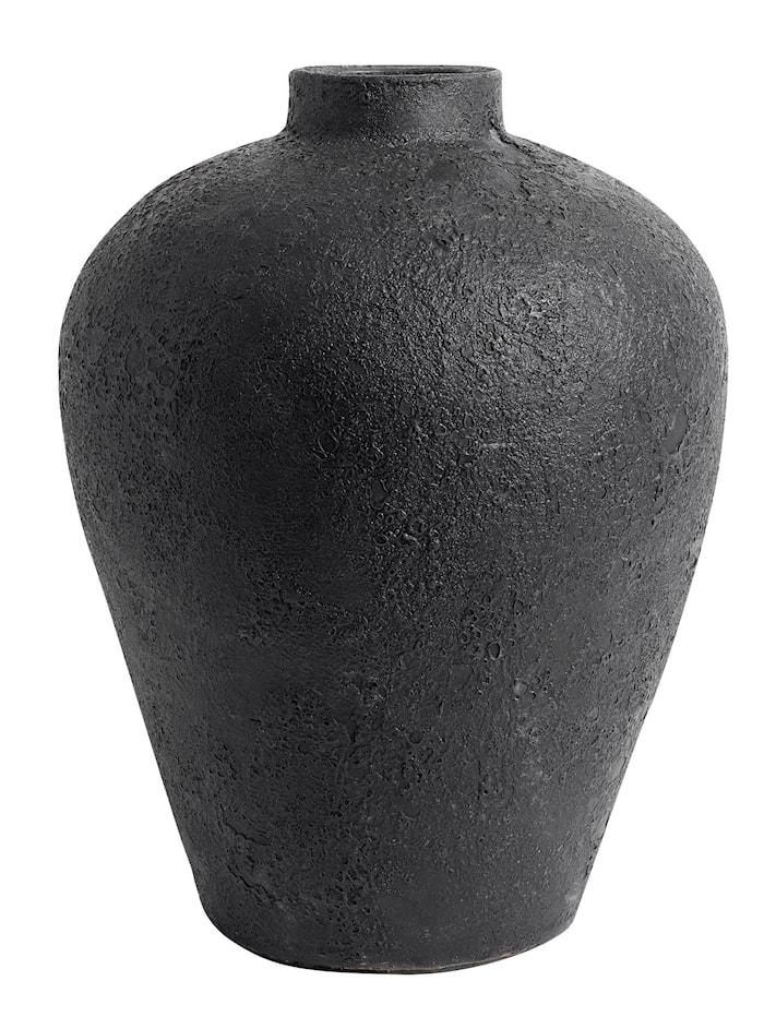 Luna Krukke Sort Terracotta 40x32 cm
