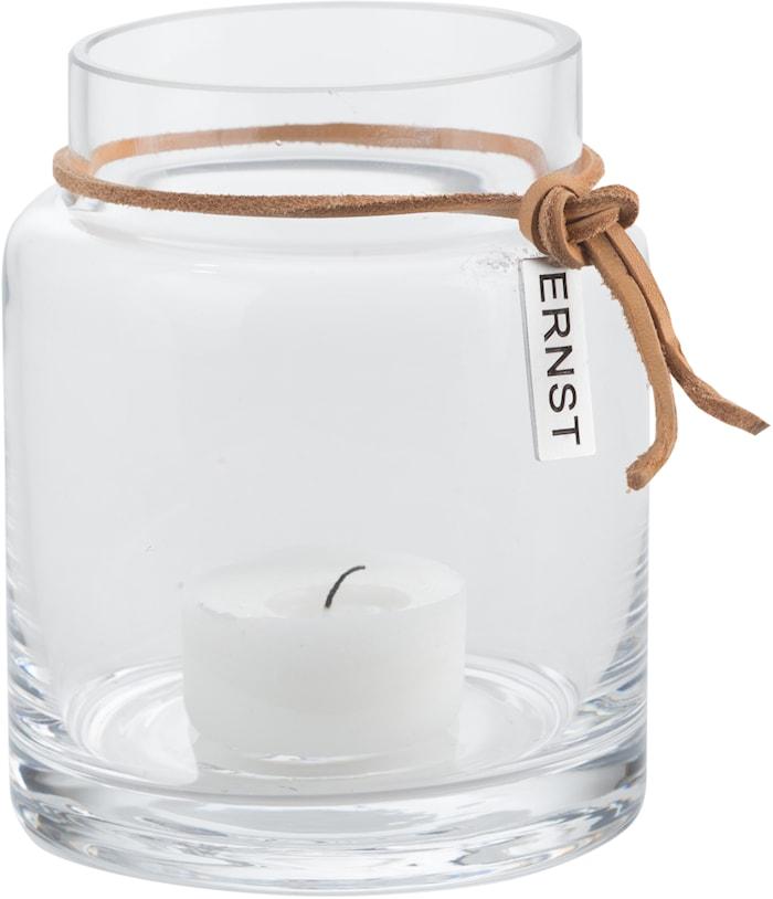 Telyslykt glass d6,5 h10 cm