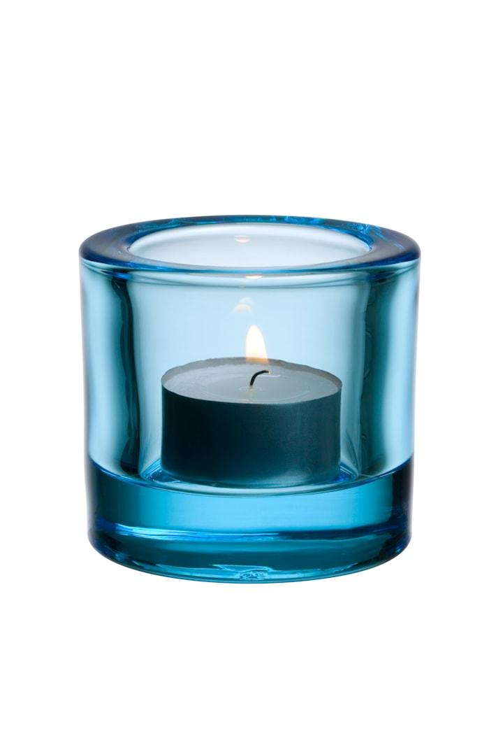 Kivi lysestage 60mm lyseblå /gavepakning