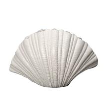 Vas, Shell, Vit, h: 21 cm