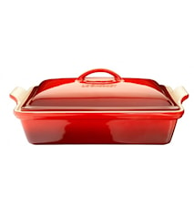 Baking dish with lid Cerise 33x23 cm