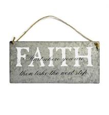 Sign, 'FAITH' w/string