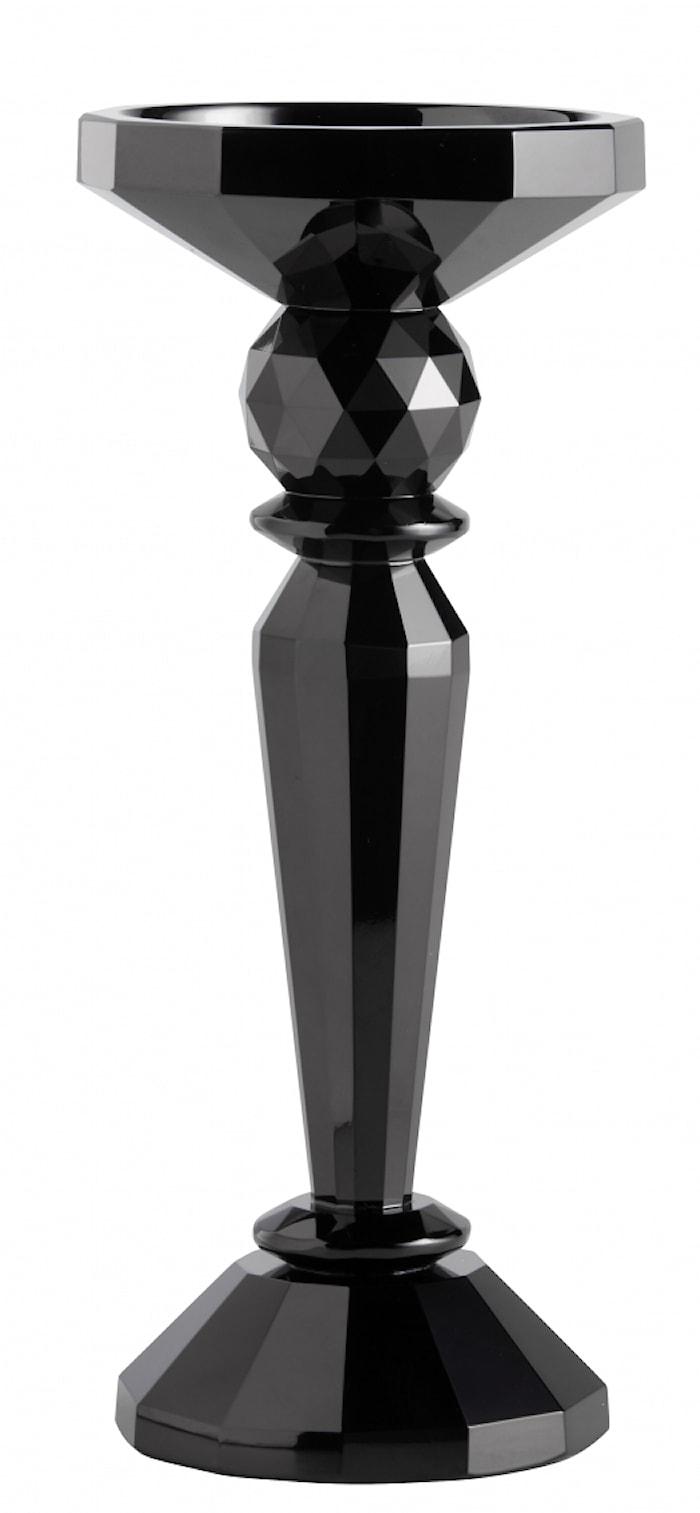 Ljusstake Crystal Black Glass