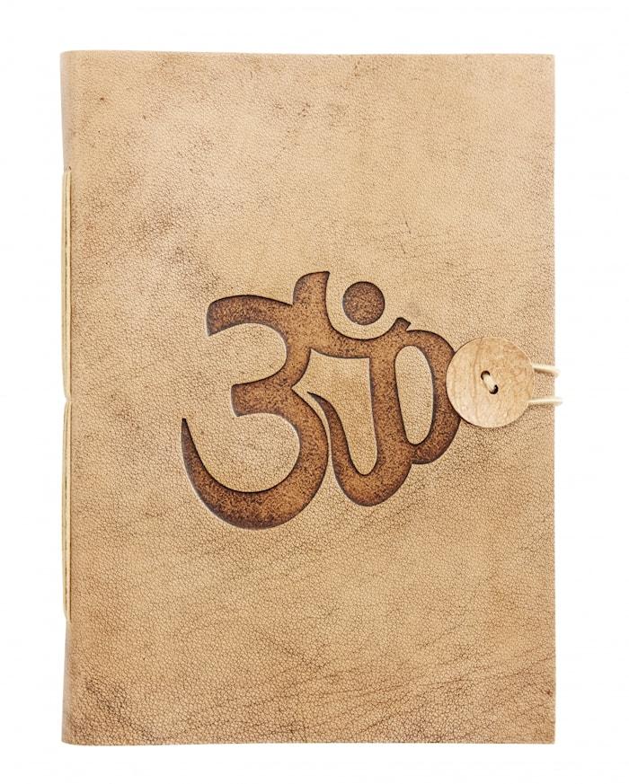 Notebook OM symbol Läder large