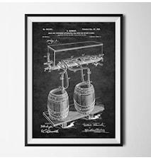 Patent öl svart