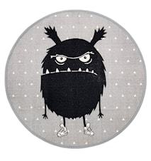 Matto Monsteri Harmaa Pyöreä Puuvilla 100cm