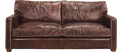 Viscount soffa - 2-sits, Leather cigarr
