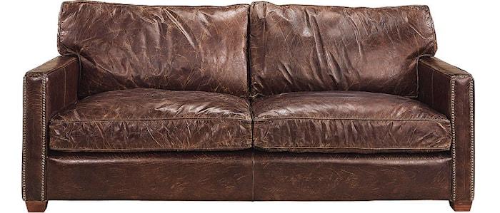Viscount soffa 2-sits Läder cigarr