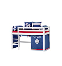 Basic loftsäng halvhög – Aeroplane sängpaket