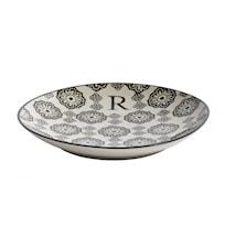 LETTER plate, R, black