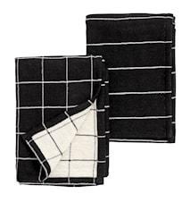 Kökshandduk Check Stripe - 2-pack