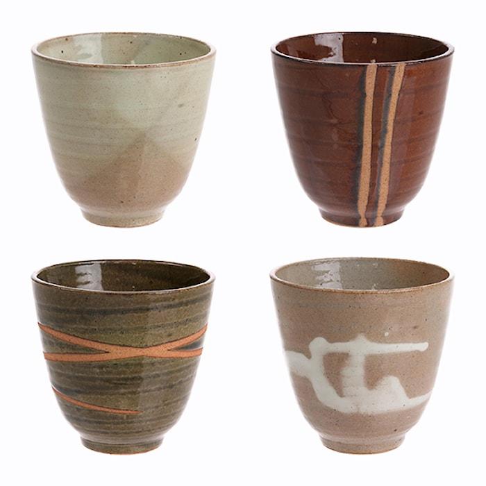 Japanska Keramik Muggar Multicolor (Set of 4)