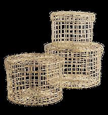 Wire baskets w/ handles