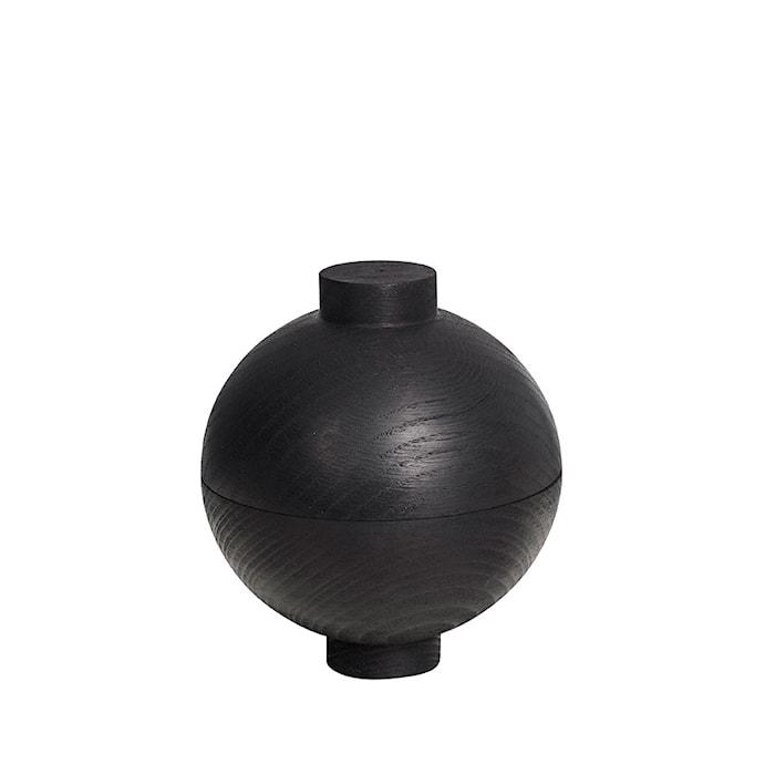 Wooden sphere svart