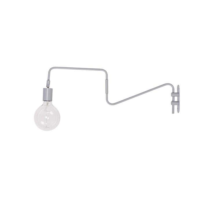 Vegglampe Grå Metall 60x20cm