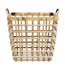 Wood/metal basket, square, L