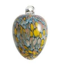 Glasägg hängande Ø 8 cm Blå/gul