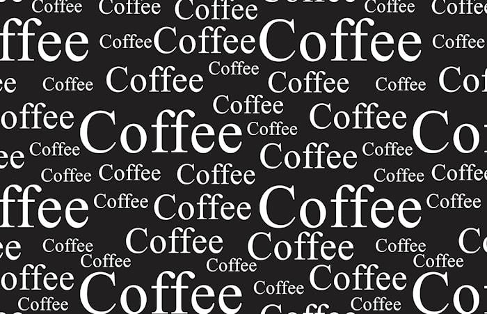 Tablett Kaffe Svart/Vit 44x28,5 cm