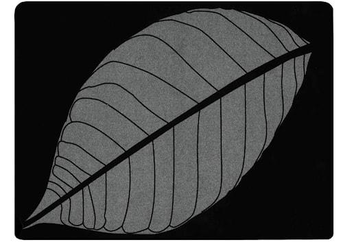 Bordsduk Löv 40x30 Gummi Silver/Svart