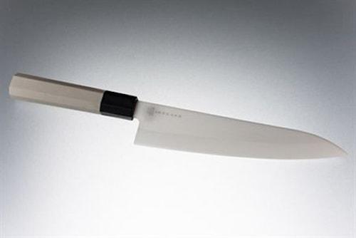Keramisk kockkniv 18 cm vit