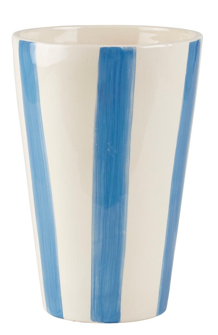Vase Stripete Havsblå 25 cm